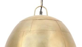 Industrijska viseća svjetiljka 25 W mjedena okrugla 41 cm E27 - NOVO
