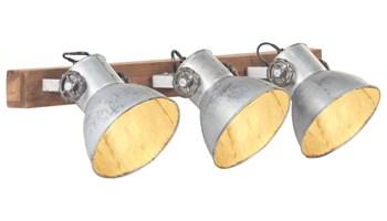 Industrijska zidna svjetiljka srebrna 65 x 25 cm E27 - NOVO