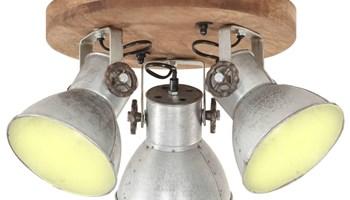 Industrijska stropna svjetiljka 25 W srebrna 42 x 27 cm E27 - NOVO