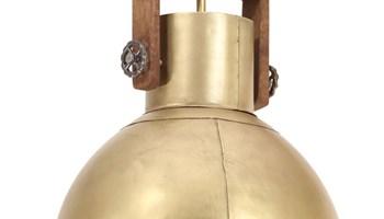 Industrijska viseća svjetiljka 25 W mjedena okrugla 40 cm E27 - NOVO
