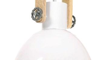Industrijska viseća svjetiljka 25 W bijela okrugla 30 cm E27 - NOVO