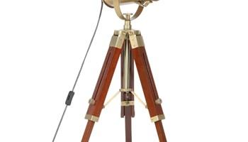 Podna svjetiljka s tronošcem od masivnog drva manga 69 cm - NOVO