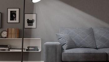 Podna svjetiljka metalna crna E27 - NOVO