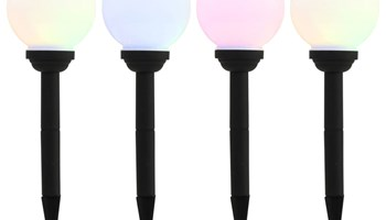 Vanjske solarne LED svjetiljke 4 kom kuglaste 15 cm RGB - NOVO