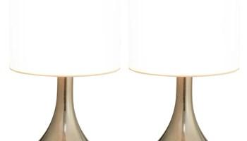Stolne svjetiljke 2 kom s gumbom na dodir bijele E14 - NOVO