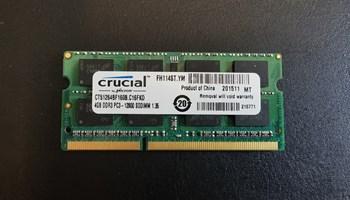 Crucial DDR3, 4GB, 1600MHz, SODIMM