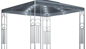 Sjenica sa svjetlosnim trakama 300 x 300 cm antracit - NOVO