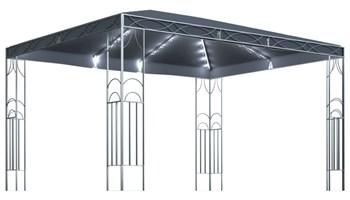Sjenica sa svjetlosnim trakama 400 x 300 cm antracit - NOVO