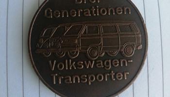 Značka medaljon VW (3 generacije volkswagen transporter )
