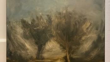 Staza između drveća - ulje na platnu - umjetnička slika u prodaji