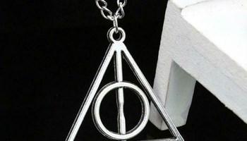 Harry Potter lančić ogrlica darovi smrti - deathly hallows