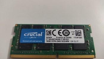 16GB DDR4 Crucial 2400MHz za Laptop.  350kn