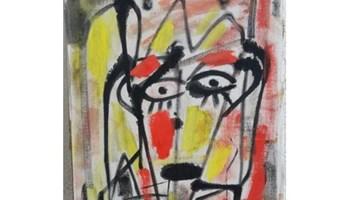 VILIM SVEĆNJAK, slika glave, ulje na kaširanom platnu