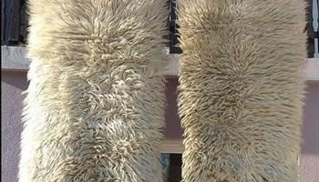 Biljac,tepih,prava vuna,ručni rad,