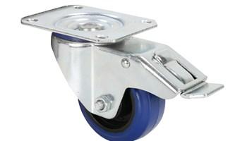 AH372091 Adam Hall Kotač 80 mm, plavi za rack s kočnicom