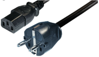 naponski strujni kabel za napajanje PCa ili sličnih uređaja