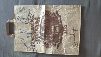autogrami cijele košarkaške reprezentacije sa OI u Barceloni 1992