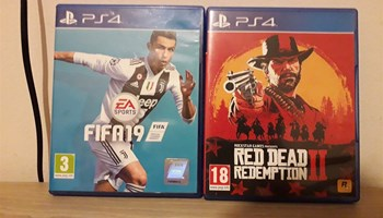 PS4 igrice - Red Dead Redemption 2 , FIFA 19