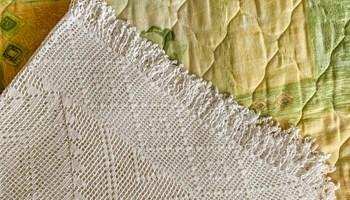 Ručno rađeni (heklani/kukičani) prekrivač za krevet od pamučnog konca 180 X 200 cm