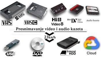 Presnimavanje kazeta na USB,Cloud ili DVD