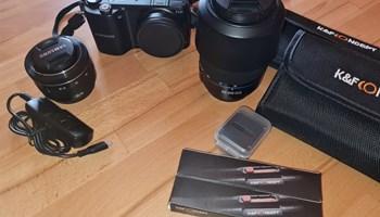 Samsung NX2000 + dosta opreme, moguća zamjena uz nadoplatu