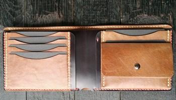 Unikat muški kožni novčanik ručni rad