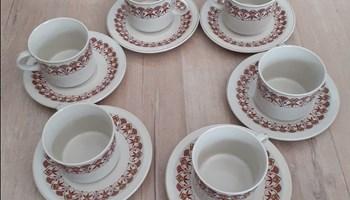 Set šalica za kavu s tanjurićima