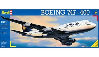 Maketa avion Boeing 747-400 Lufthansa 1/144