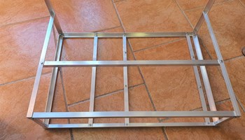 Okvir (frame) za mining rig, za 6 kartica, aluminij