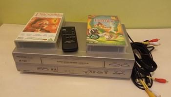 VHS player SHARP A10 i dva filma