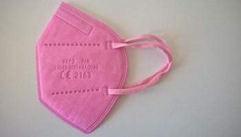 FFP2 zaštitne maske za lice, roza boje 30 kom.