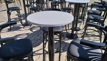 ugostiteljski inventar/barske drvene stolice 40tak kom & 7stolova