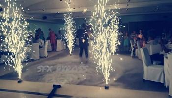 Efekti za vjenčanje( prvi ples) Niski dim fontane baloni