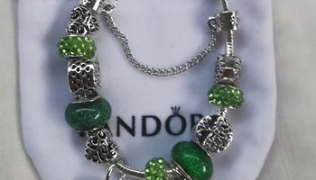 Pandora narukvica, zelena, nova!