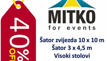 Rasprodaja - 40 % - Šatori, Stolovi, Jastuci - ZADNJI PRIMJERCI !