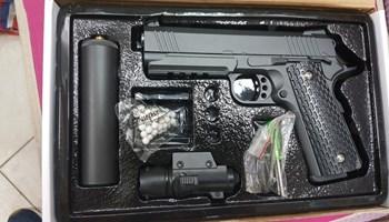 AIRSOFT GALAXY G.25 A Full METAL / prigušivač i laser Pištolj