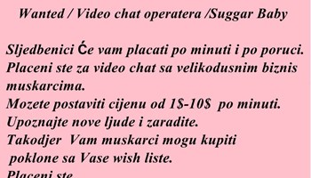 Video Chat operaterka/Suggar Baby