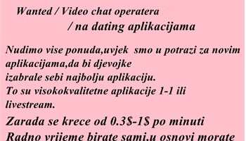 Video Chat operaterka/Dating chat app