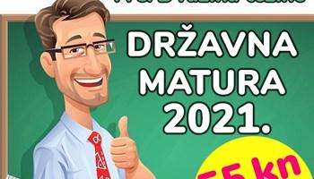 55 kn/šk. sat - pripreme za DRŽAVNU MATURU (2021.) iz matematike