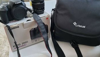 Canon EOS 200D 24.2 MP Digital SLR Camera (+17087136572)