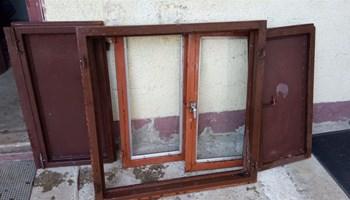 Željezni prozor neprobojni, sa šalaporkama 90x90