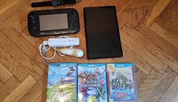 Nintendo WII U konzola + dodatni kontroler + 3 poznate igrice