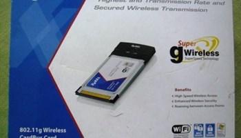 ZyXEL Wi-Fi kartica G 170S, nova, zapakirana, upute, cd program