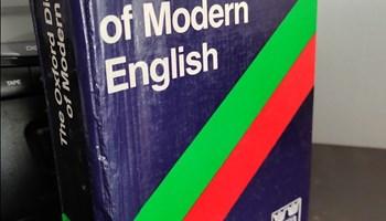 Dictionary of modern English