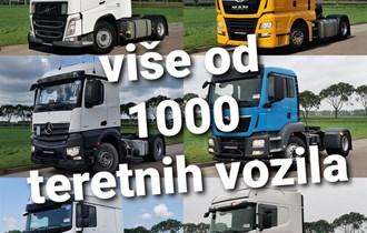 Prodaja svih vrsta tegljača i kamiona!