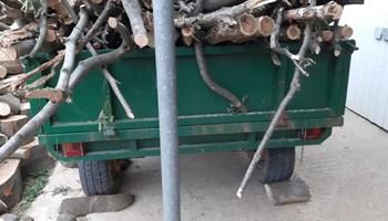Traktorska prikolica kiper,plug 12 Cola i freza 160 cm