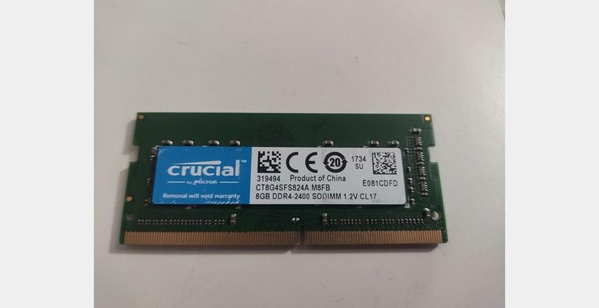 8GB DDR4 CRUCIAL 2400MHz za Laptop.  200kn