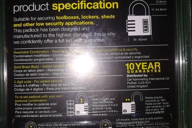 Lokoti padlock kasp security